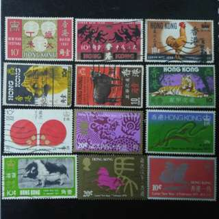 60's-70's 十二生肖郵票