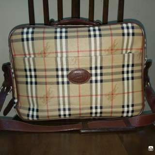 Travel Bag Vtg Burberrys