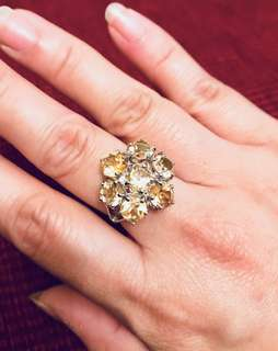 Gorgeous TOP Rich Yellow Citrine Ring 8