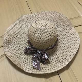 Beach Hat with Ribbon