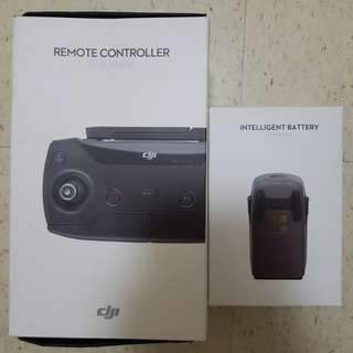 Dji Spark Remote Controller and Battery