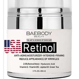 Retinol Moisturizer Cream for Face and Eye Area. - With Retinol, Hyaluronic Acid, Vitamin E. Anti Aging Formula Reduces Look of Wrinkles, Fine Lines. Youthful looking. Best Day and Night Cream. 1.7 Fl Oz