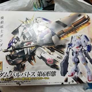 最後一部HG 1/144 Gundam barbatos 機動戰士高達 第6形態透明版