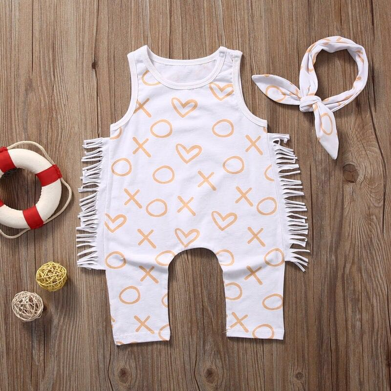 👶🏼(6-9months) Headband & Jumpsuit