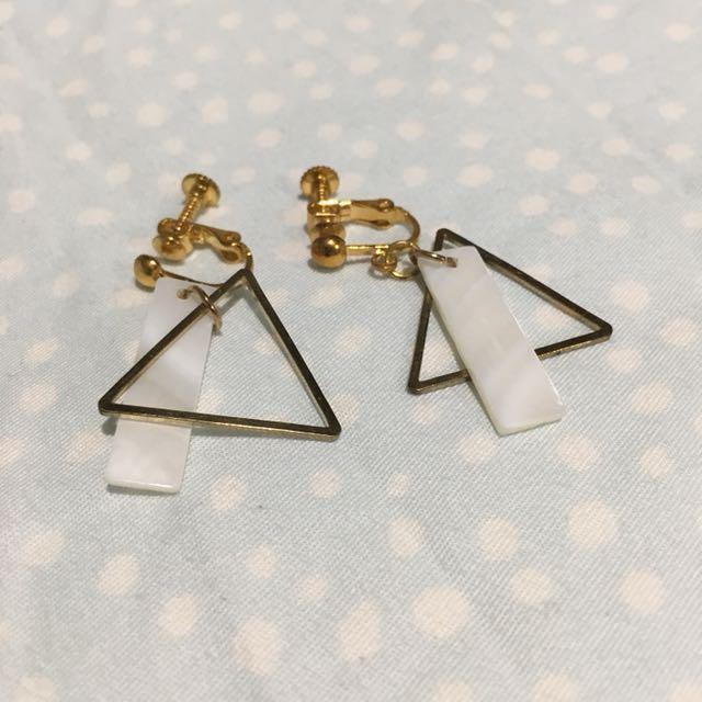 造型設計夾式耳環