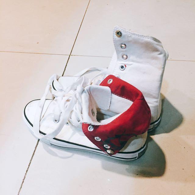 長筒歐美休閒鞋