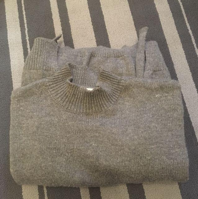 長版高領毛衣