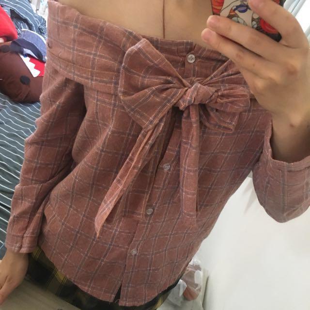 蝴蝶結平口上衣