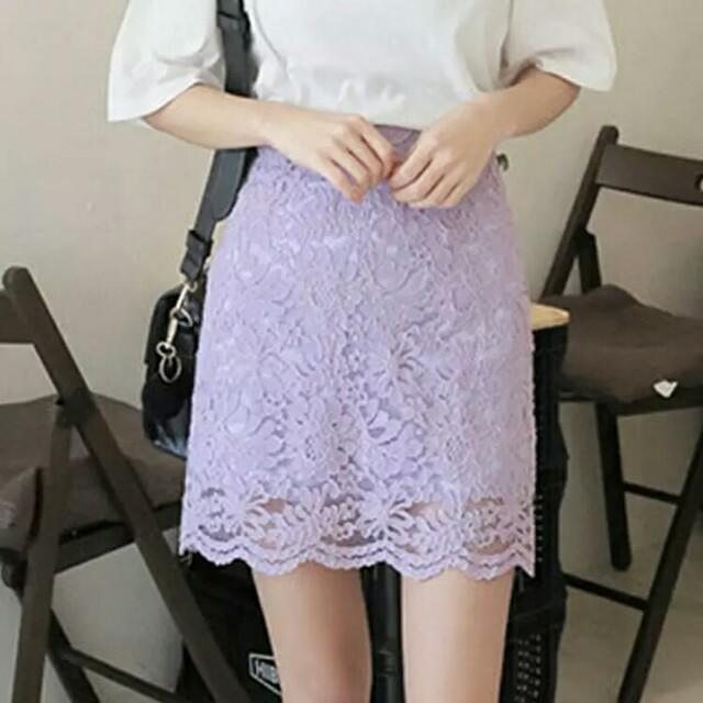 韓版包臀蕾絲裙