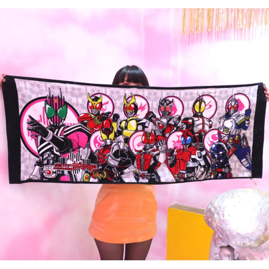 「仮面ライダーシリーズ 假面騎士 浴巾 毛巾 毯子 52x130cm @公雞漢堡」