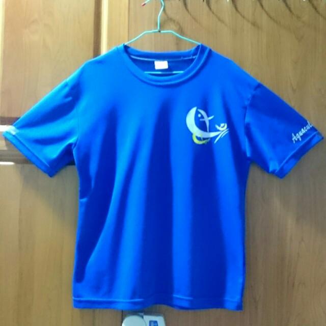 澎科大 養殖 經典藍色 T shirt