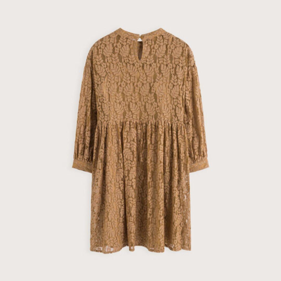 全新轉賣 pazzo 小清新蕾絲膨膨袖洋裝 附吊牌 賣場另有多件meier.q pazzo全新衣物