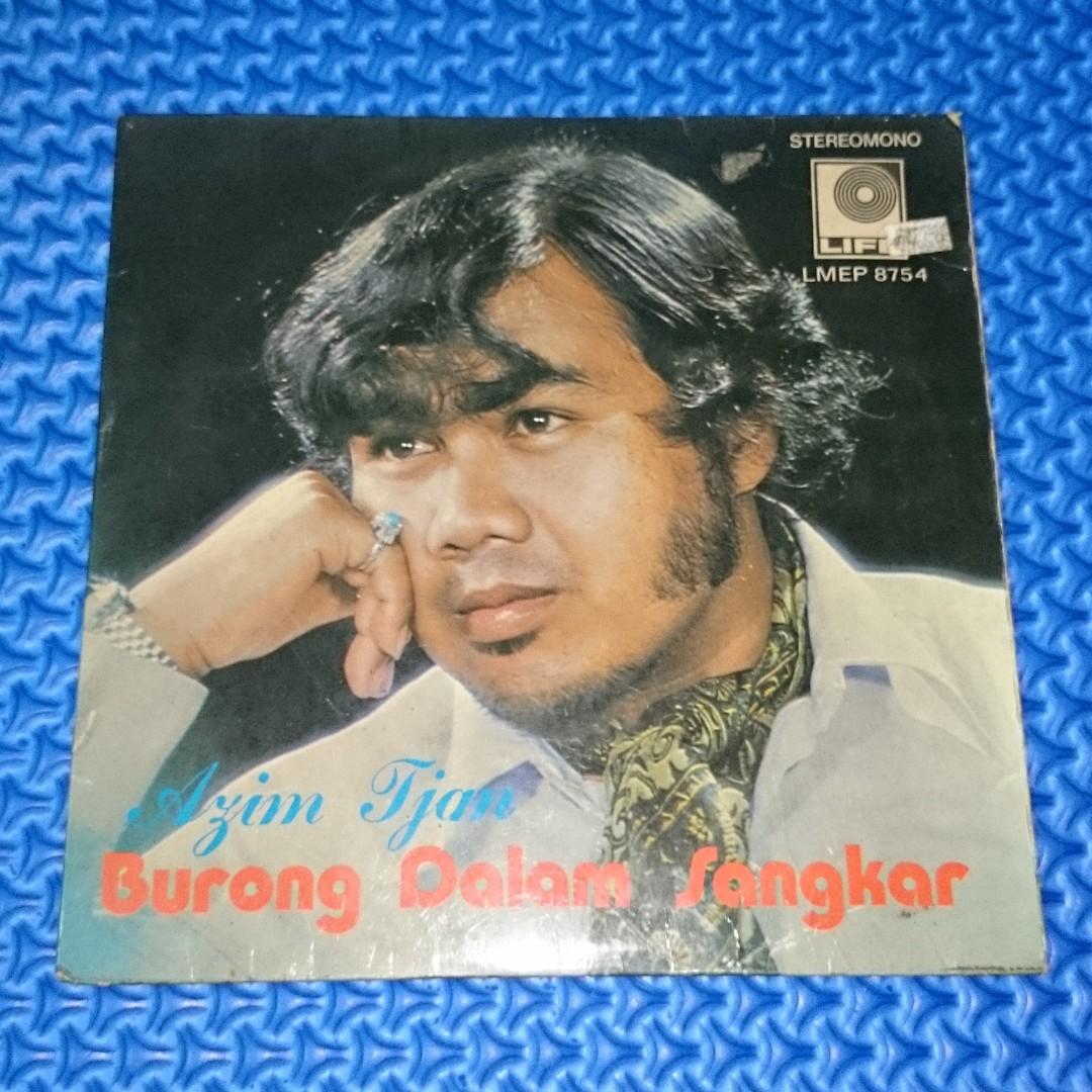🆒 Vinyl EP Azim Tjan & Rosar Agus - Burong Dalam Sangkar 45RPM Piring Hitam