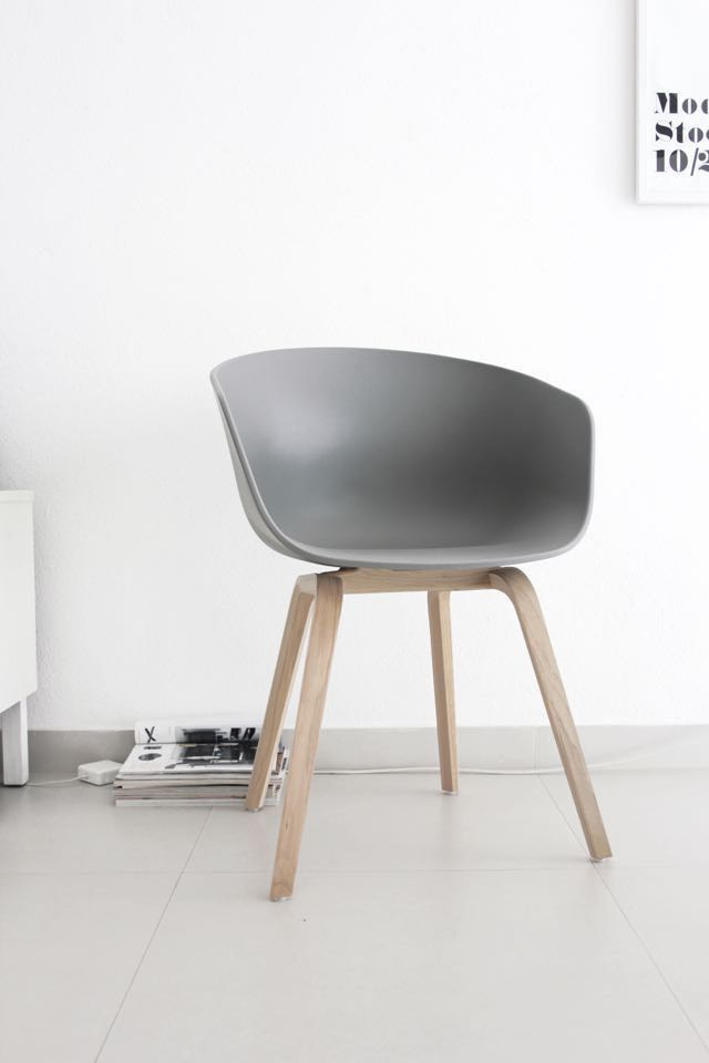 About A Chair (HAY-inspired) - Light Grey & Birch Wood