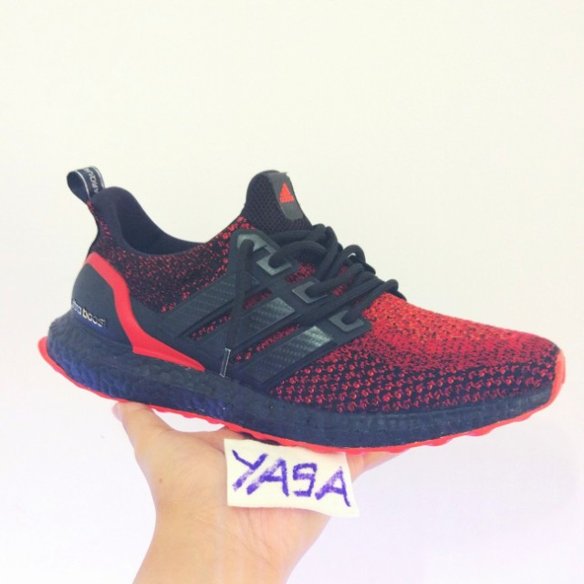 new arrival ca069 d5230 Adidas Ultra Boost 2 Lava Red Blackout, Men s Fashion, Footwear on Carousell