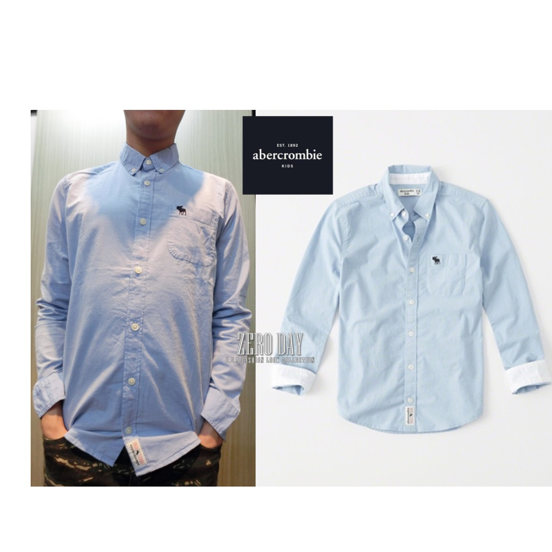 A&F Abercrombie&Fitch正品stretch poplin icon button-up shirt襯衫