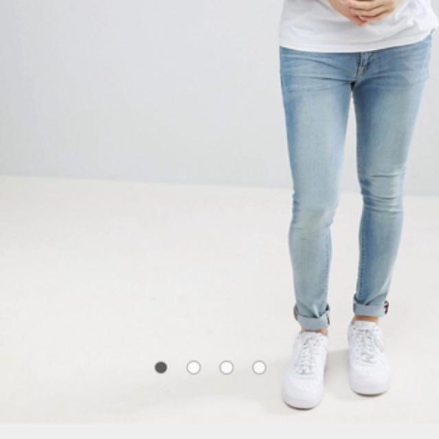 ASOS Light Wash Super Skinny Jeans