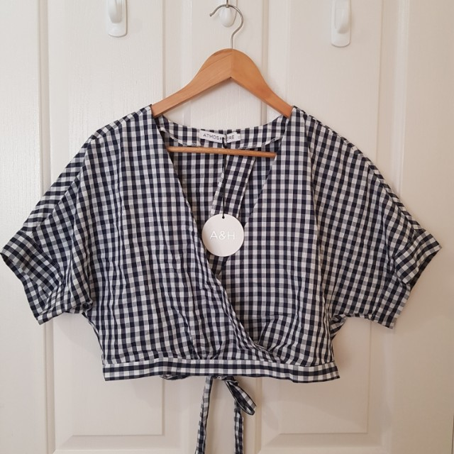 Atmos & here gingham top