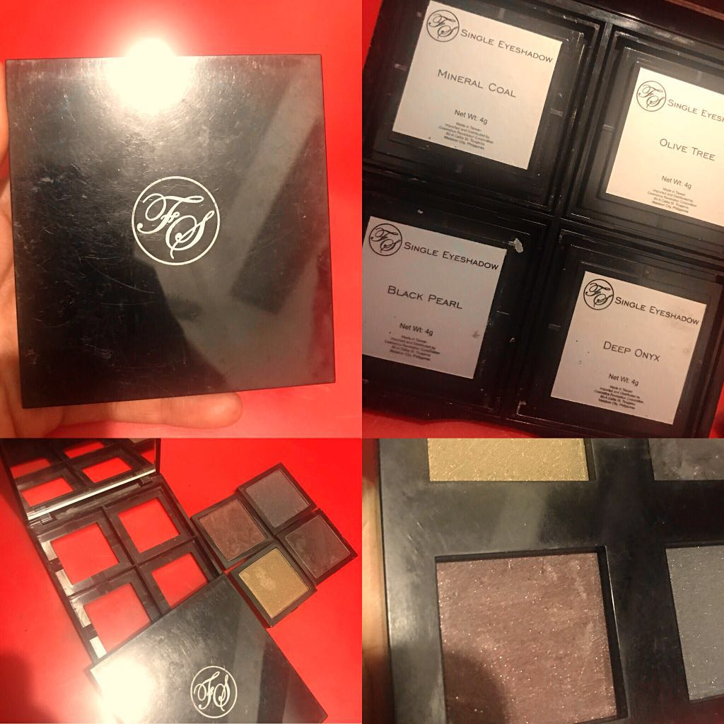 Auth💯FS palette with mirror (four single eyeshadows)