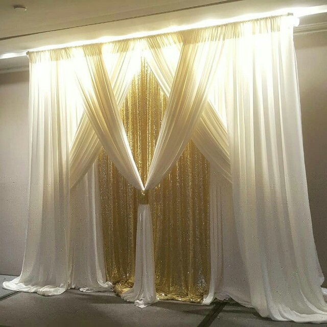 ROM/ Wedding/ 8ft Party backdrop rental