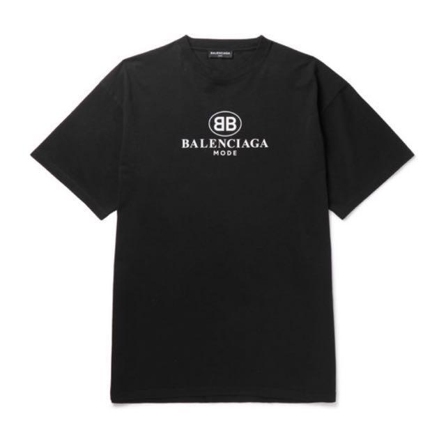 954c8260b Balenciaga Double B Tee, Women's Fashion, Clothes, Tops on Carousell