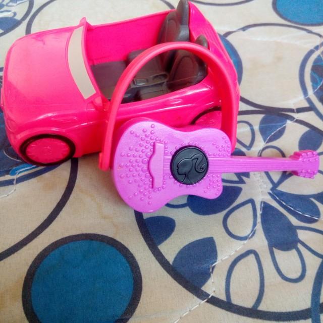 barbie guitar and car