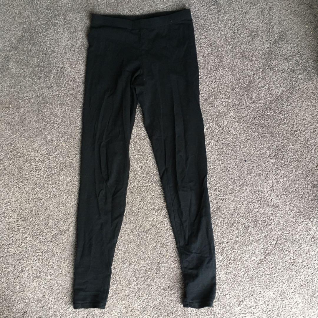 Basic black tights