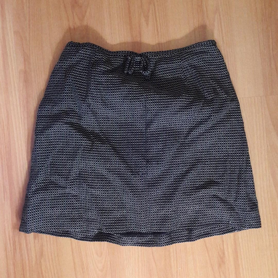 Black A-line Mini Skirt