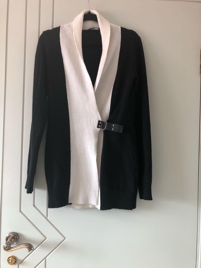 Black and white cardigan