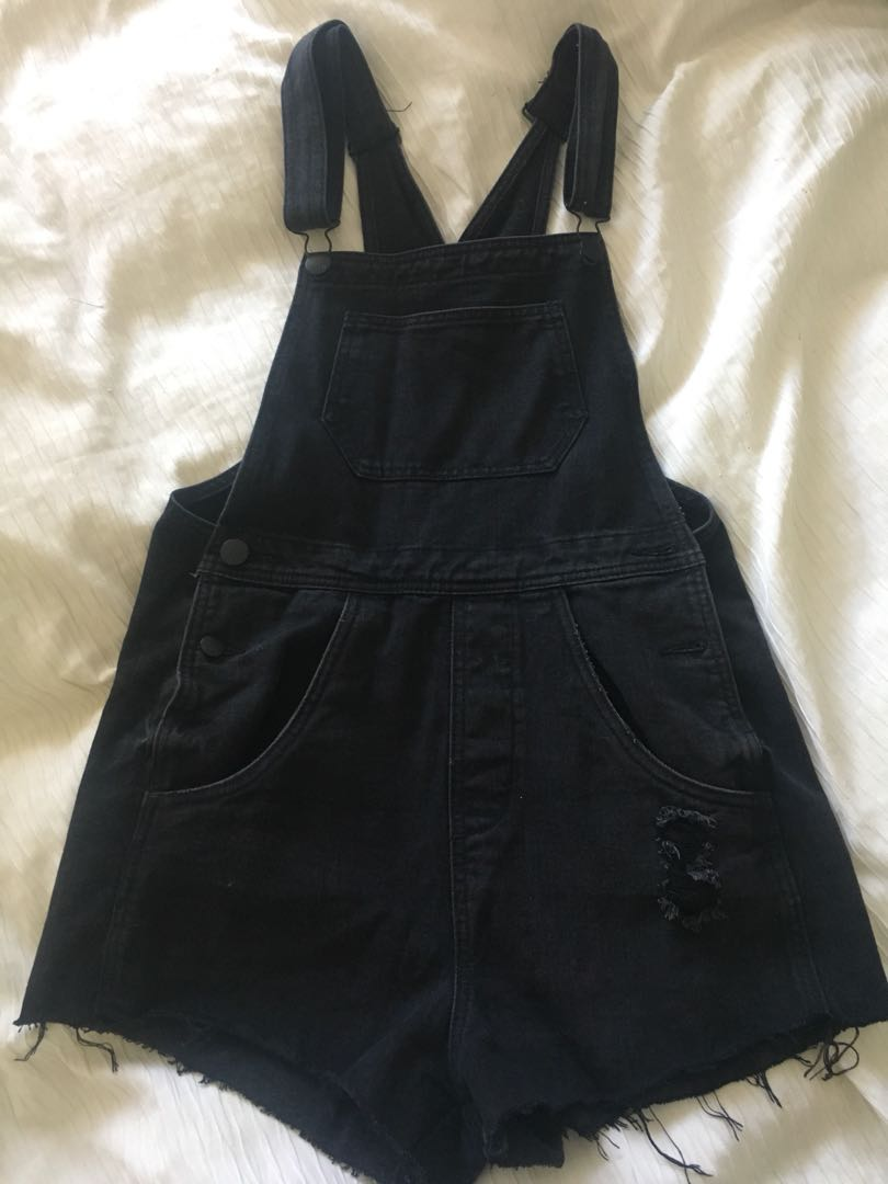 Black dungaree size 10