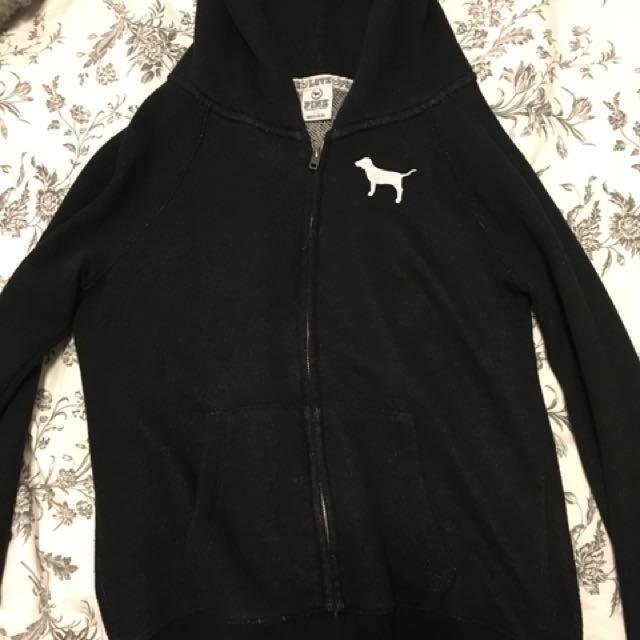 Black PINK brand zip up hoodie