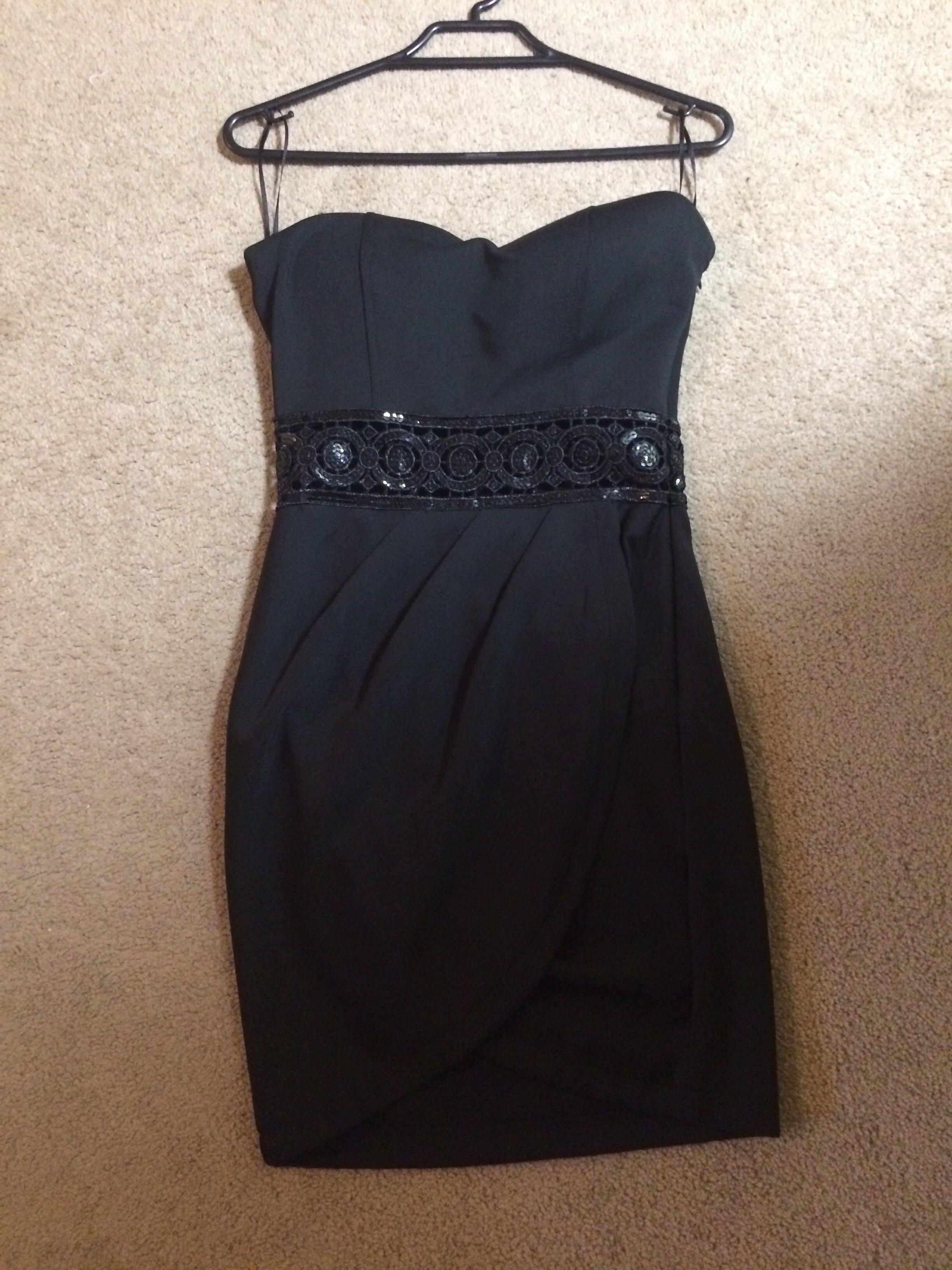 Black strapless dress (size 6)