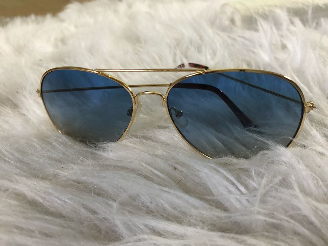 Blue and gold aviator glasses (BRAND NEW NEVER WORN)