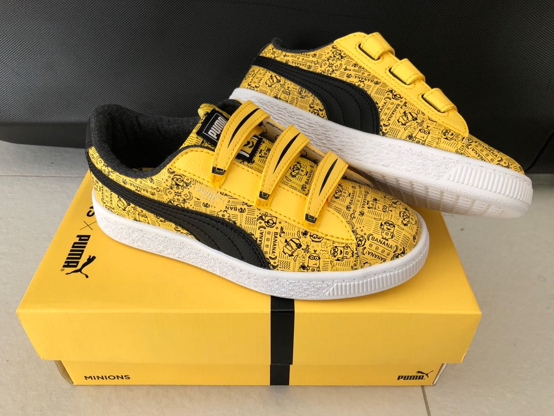 a41a3e757679 BNIB Puma x Minions Kids Shoes