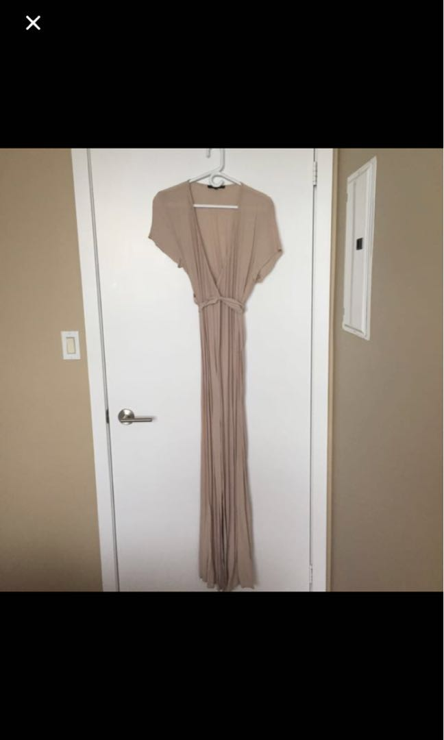 BNWT Beige Wrap Maxi Dress (M)