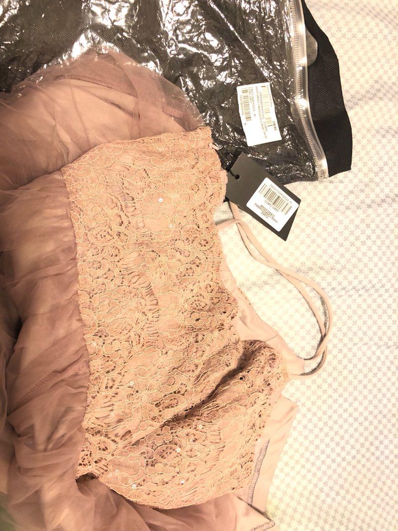 Bridesmaid lace sequin maxi dress