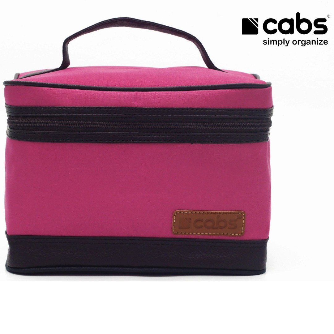 Cabs Pocket Cosmet - Tas Kosmetik Anti Air, Dompet Alat Make Up, Tas Organiser Tuk Bedak, Lipstik, Kaca, Eyeliner Dll - Pink, Women's Fashion, Women's Bags ...