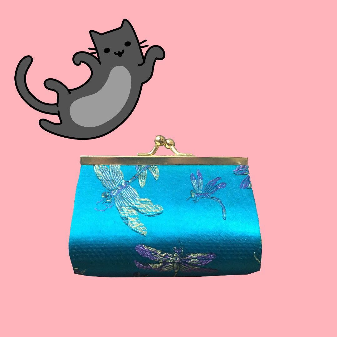 Chinese Blue Coin Purse