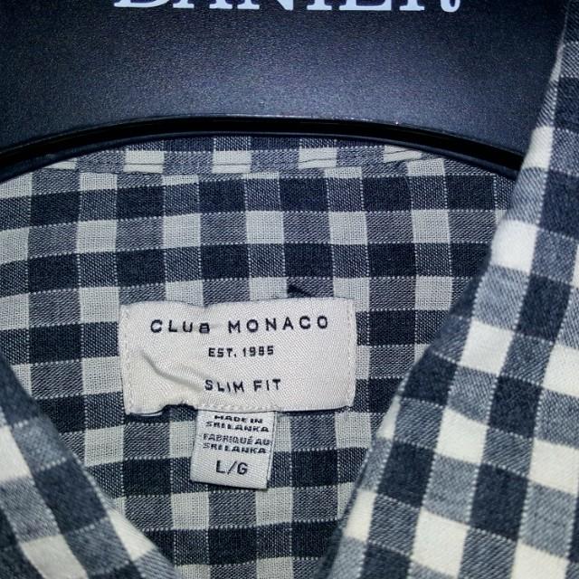 Club Monaco, L, casual plaid dress shirt