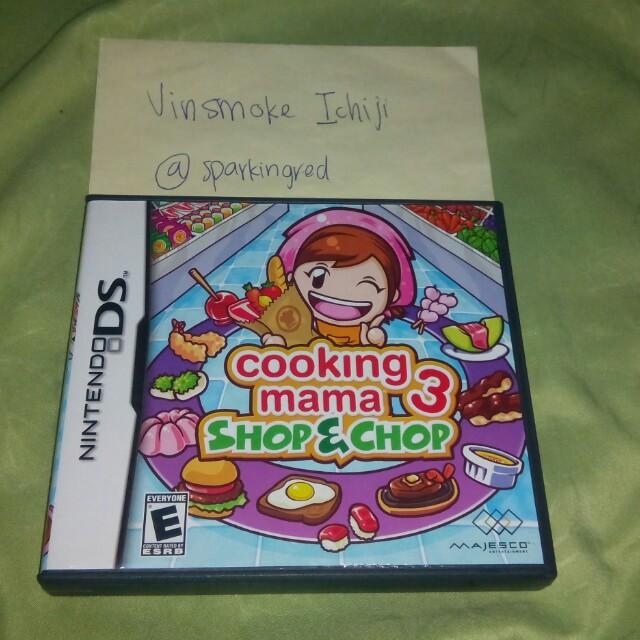 Cooking Mama 3 Shop & Chop Nintendo DS