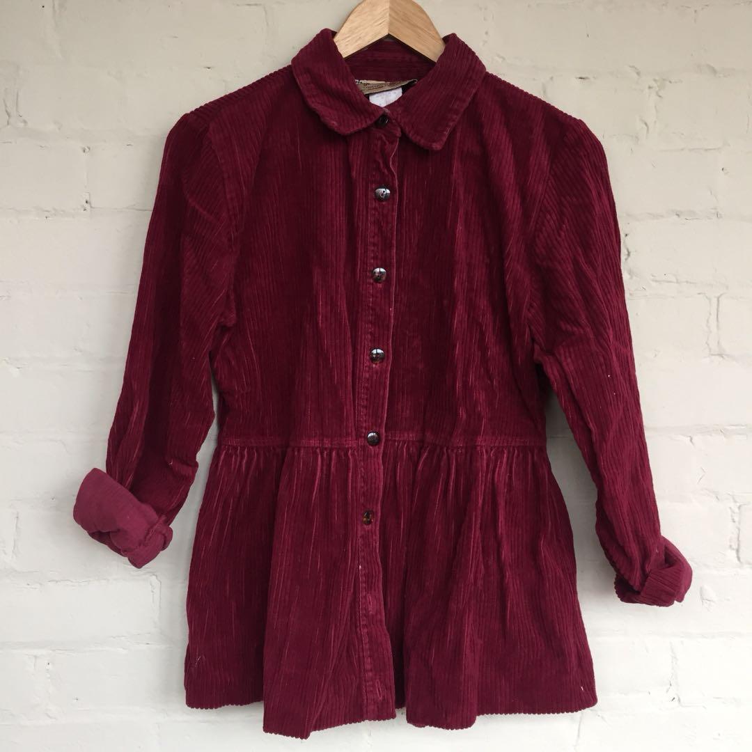 Corduroy blouse