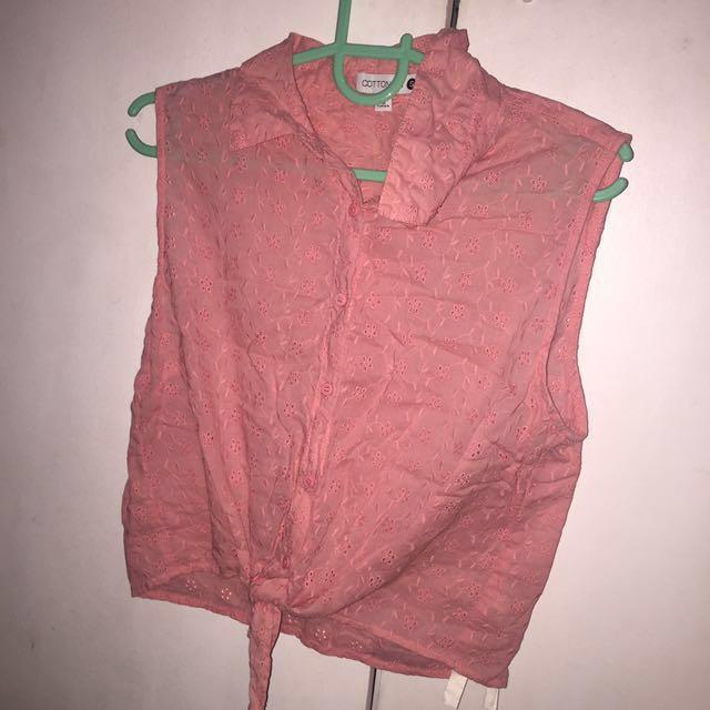 Cotton on tie blouse