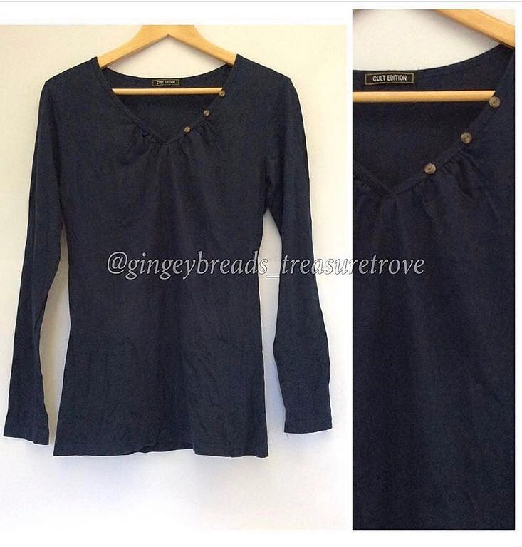 Cult Edition Midnight Blue Long Sleeved Top