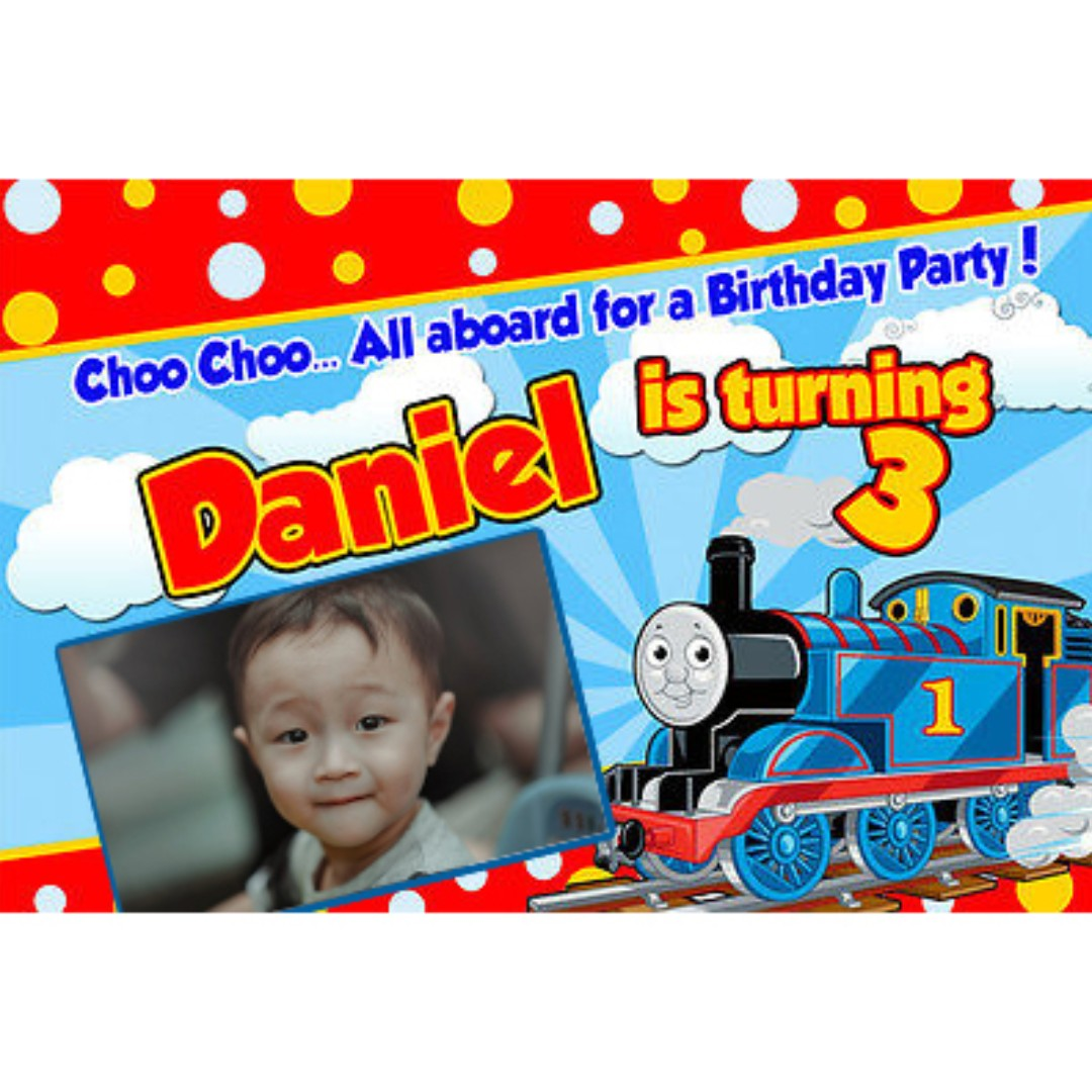 Customized Thomas & Friends, Thomas the Train Poster, Banner ...