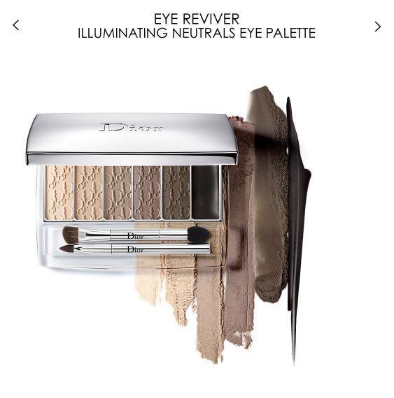 Dior Eye reviver backstage pros illuminating neutral eye palette