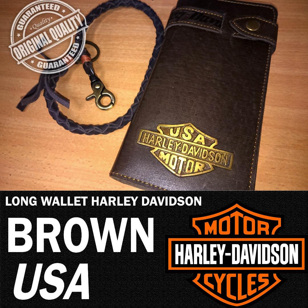 DOMPET KULIT PRIA BRANDED IMPORT HARLEY DAVIDSON ORIGINAL USA