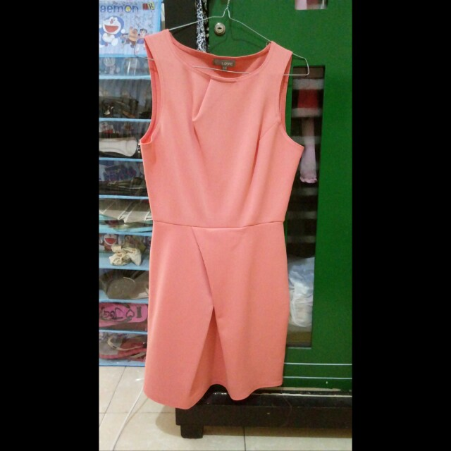 Dress bodycon pink