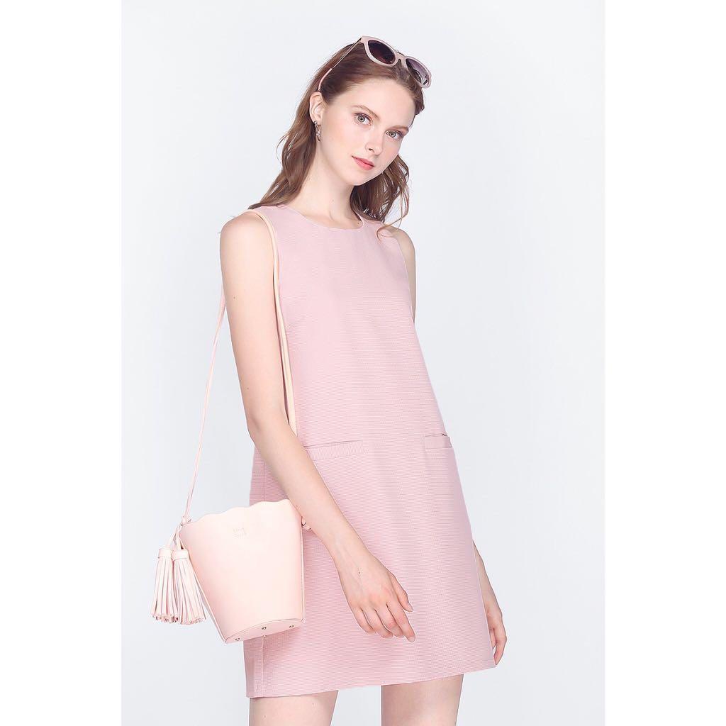 Fayth hadrea gingham pocket dress, pink