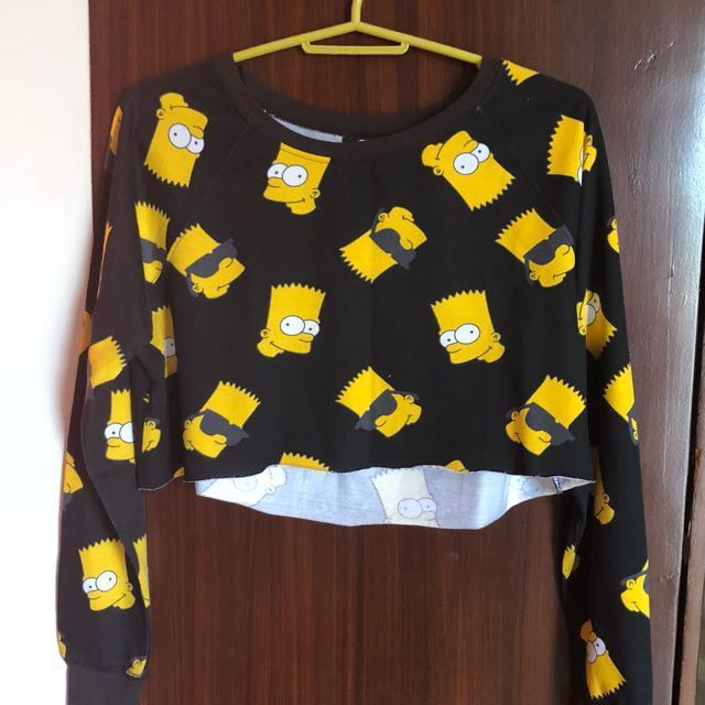 Final Price H&M Bart Simpsons Crop Top Small