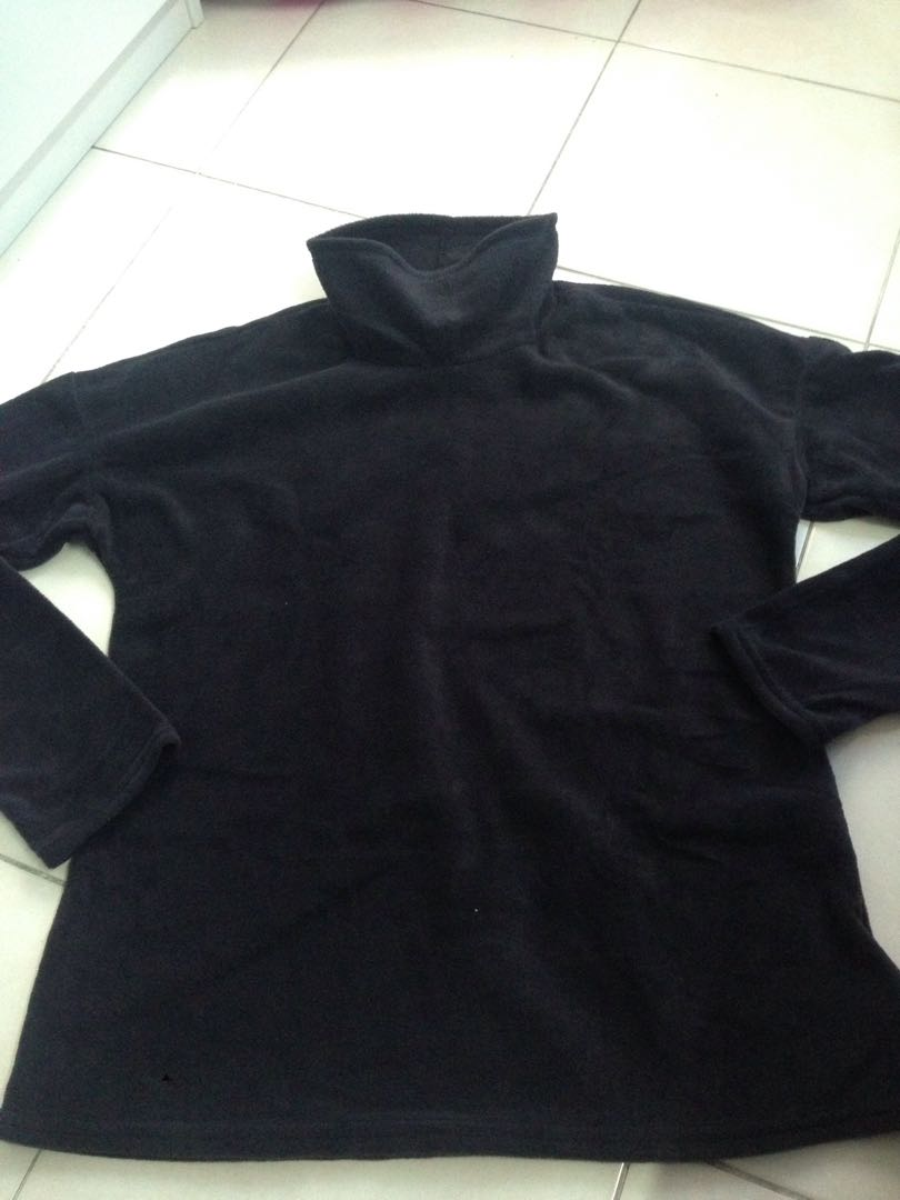 Fleece Black Top Pullover (2XL)